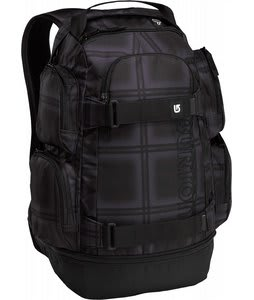 Burton Distortion Backpack Black Ghost Plaid