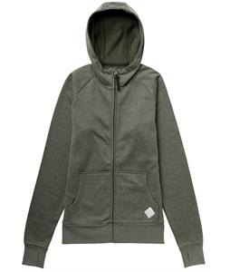 Burton Elite Bonded Hoodie Olive Heather