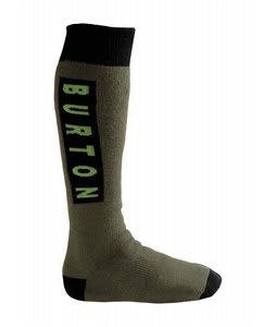 Burton Emblem Socks Trench Green