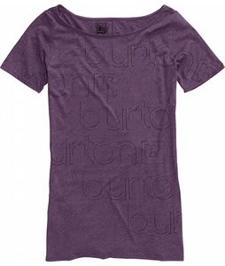 Burton Emblems Boatneck T-Shirt Heather Rum Raisin