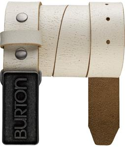 Burton Emboss Belt Stout White