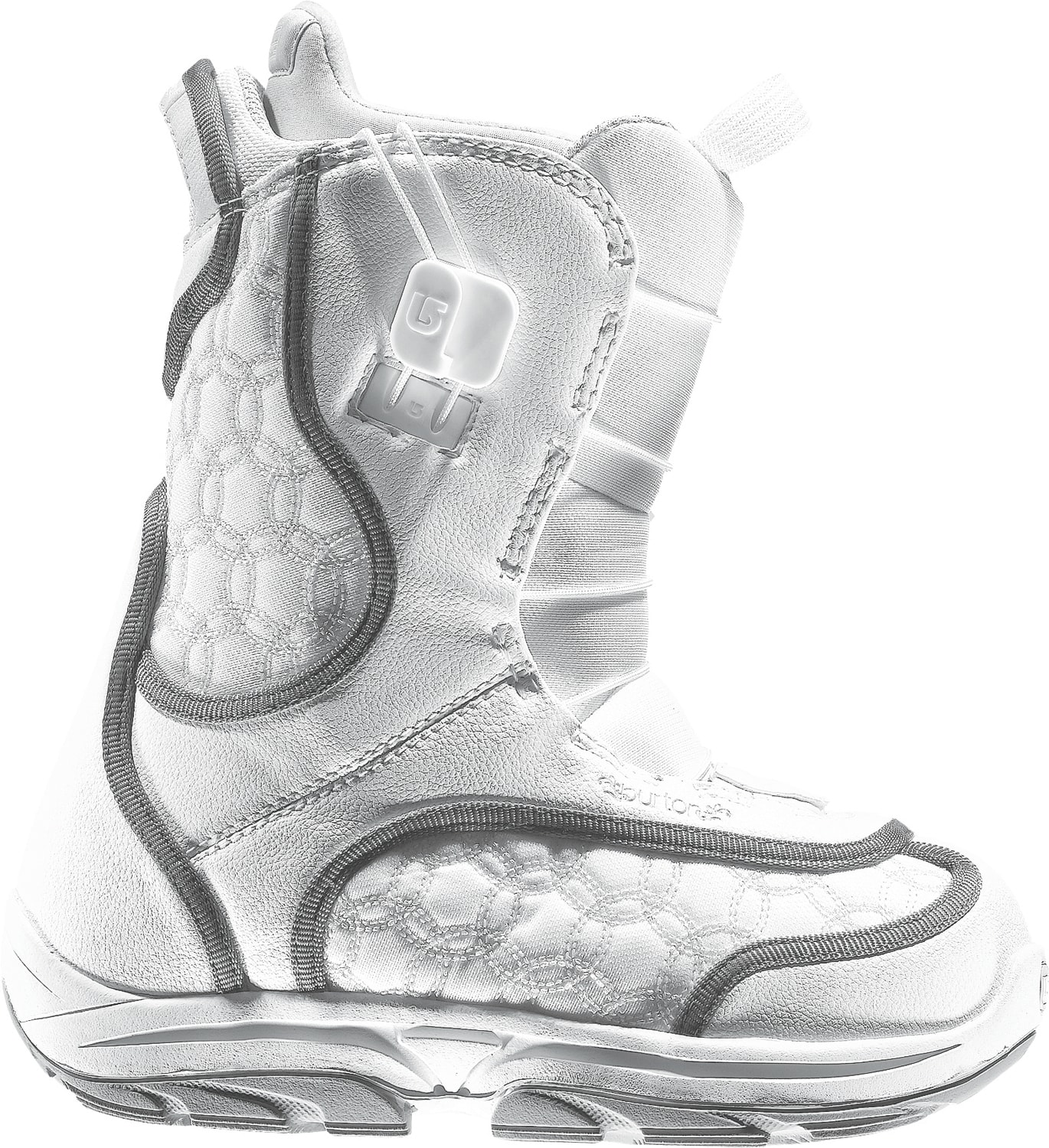 Shop for Burton Emerald Smalls Snowboard Boots White/Grey - Kid's