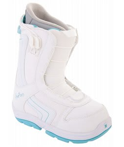 Burton Emerald Smalls Snowboard Boots White/Light Blue
