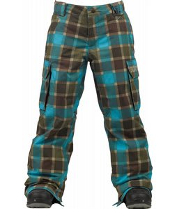 Burton Exile Cargo Snowboard Pants Norsk Revolt Plaid