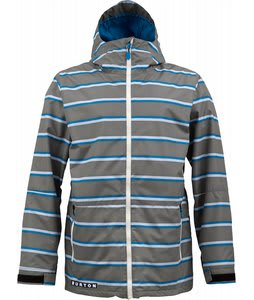 Burton Faction Insulated Snowboard Jacket Jet Pack Marcos Stripe