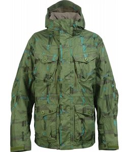 Burton Field Snowboard Jacket Chlrophyl Trnchs Pld