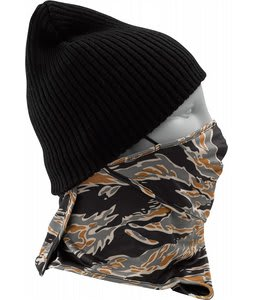 Burton First Layer Lightweight Facemask True Black Tiger Camo