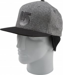 Burton Flapper Cap Cement Heather