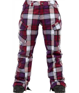 Burton Fly Snowboard Pants Garnet Estate Plaid
