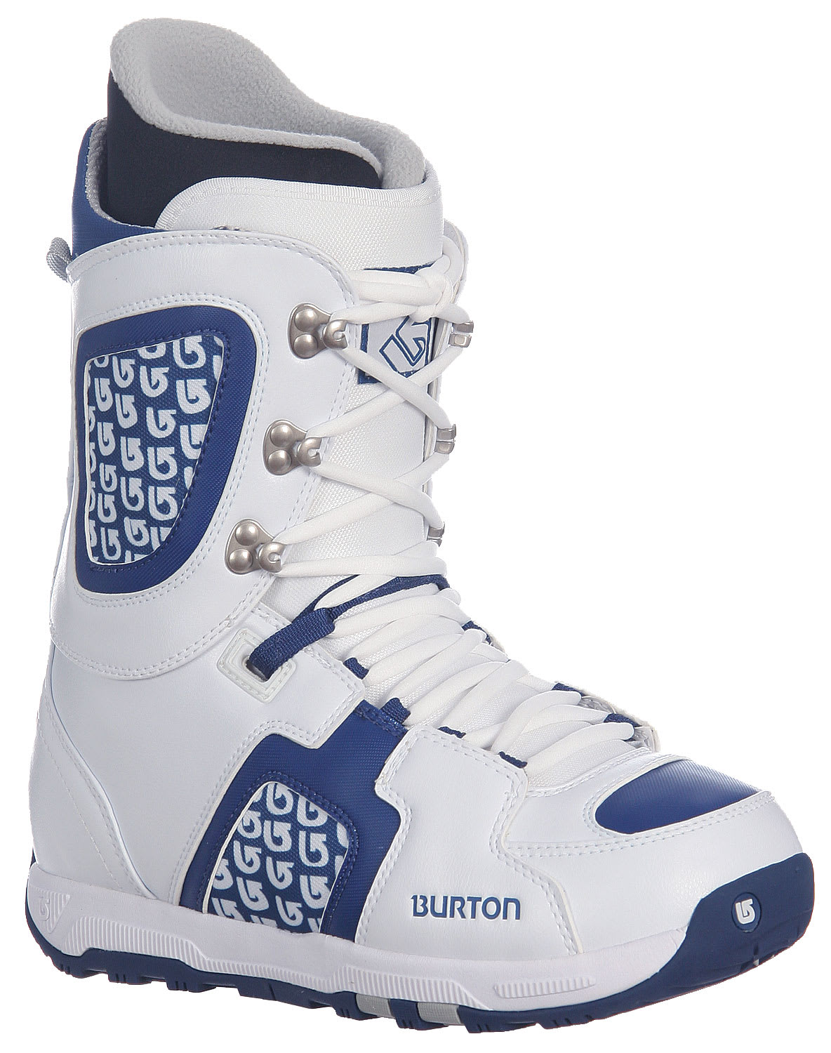 Shop for Burton Freestyle Snowboard Boots White/Blue - Kid's