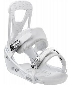 Burton Freestyle Snowboard Bindings White