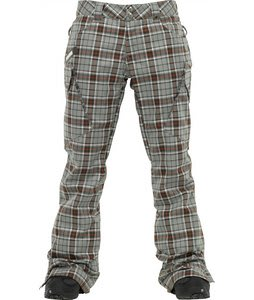 Burton Gloria Snowboard Pants Moss Groupie Plaid