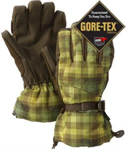 Burton Gore-Tex Gloves Brunette Ombre Plaid