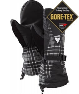 Burton Gore-Tex Mittens True Black Punkstar Plaid