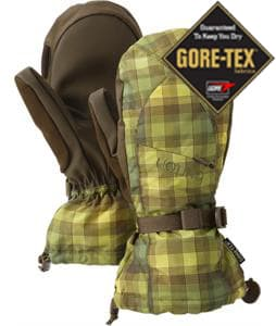 Burton Gore-Tex Mittens Brunette Ombre Plaid