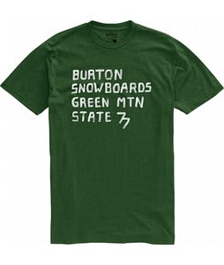 Burton Green Mountain State Over Dyed Heather T-Shirt Sherwood