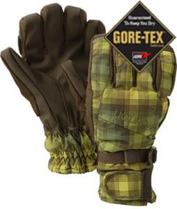 Burton Gore-Tex Under Gloves Brunette Ombre Plaid
