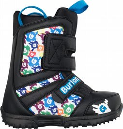 Burton Grom Snowboard Boots Black/White/Multi