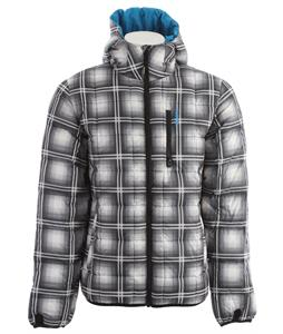 Burton Groton Down Snowboard Jacket True Black/Ghost Plaid