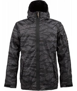 Burton Groucho Snowboard Jacket Black Tiger Camo