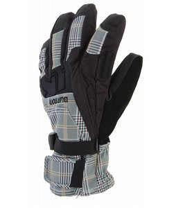 Burton Gore-Tex Under Gloves Apres Plaid Burlap