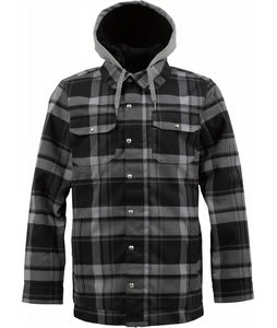 Burton Hackett Snowboard Jacket True Black Riverside Plaid