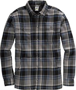 Burton Haven Sherpa Flannel Iron Gray Handlebar Plaid