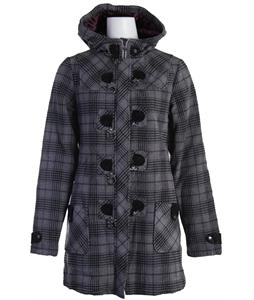 Burton Harvard Coat Eggplant Plaid