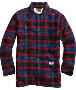 Burton Haven Sherpa Flannel True Black Flip Plaid