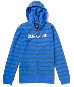 Burton Her Logo Basic Full-Zip Hoodie Heather Cobalt Blue Stripe