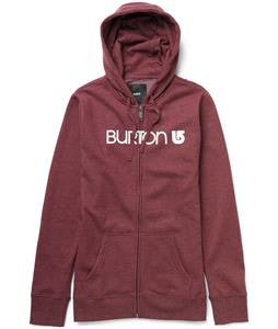Burton Her Logo Basic Full-Zip Hoodie Heather Crimson