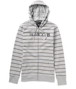 Burton Her Logo Basic Full-Zip Hoodie Heather Pewter Stripe