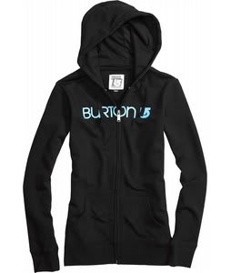 Burton Her Logo Basic Fullzip Hoodie True Black