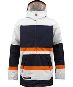 Burton Highlife Anorak Jacket Stout White Big Stripe