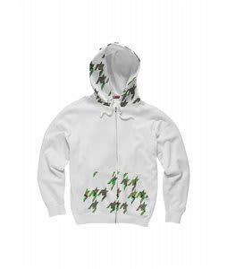 Burton Houndstooth Camo Fleece Optic White