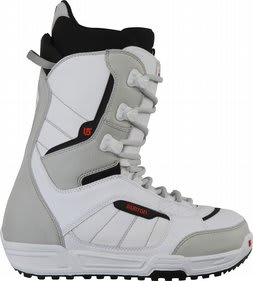 Burton Invader Boots White/Black/Red