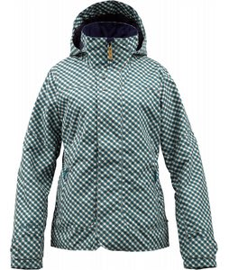 Burton Jet Set Snowboard Jacket Spruce Check A Dot