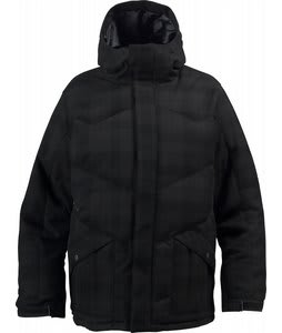 Burton Kush Down Snowboard Jacket Tru Black Surface Green