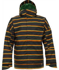 Burton Launch Snowboard Jacket True Black Marcos Stripe