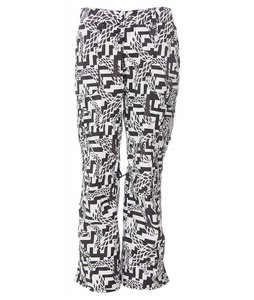 Burton Lucky Snowboard Pants Black Labrinth Print