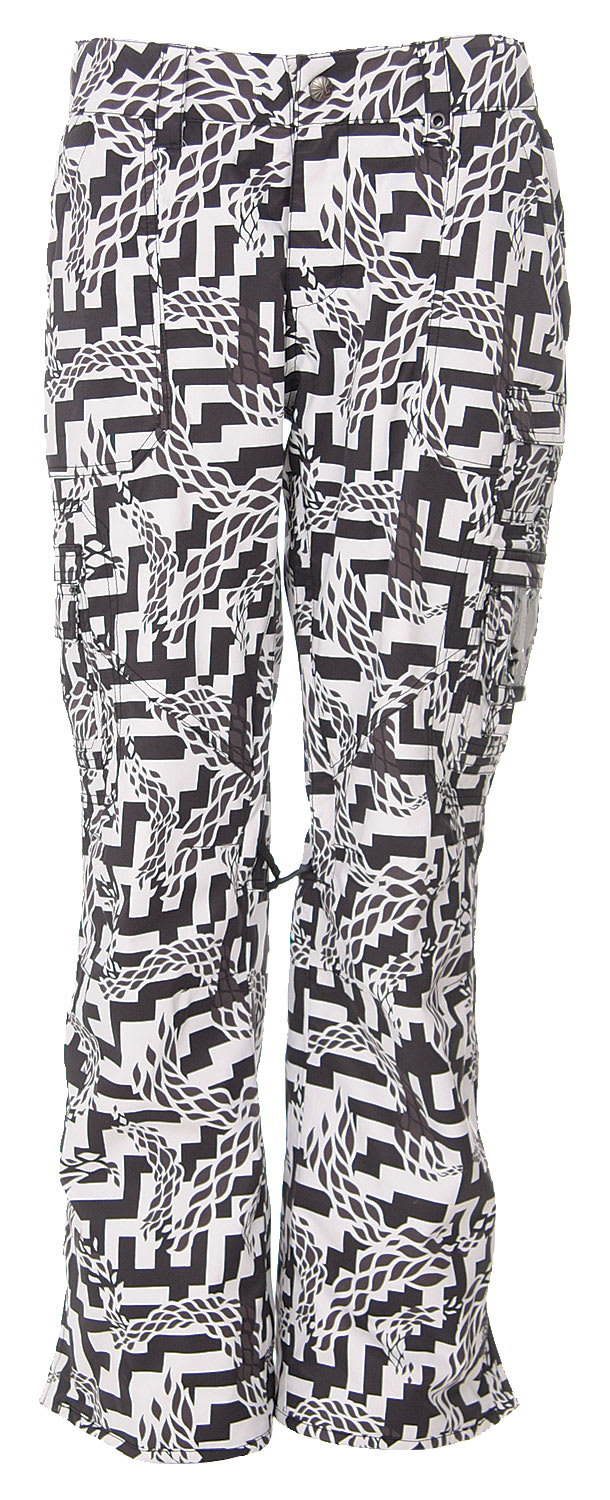 Shop for Burton Lucky Snowboard Pants Black Labrinth Print - Women's