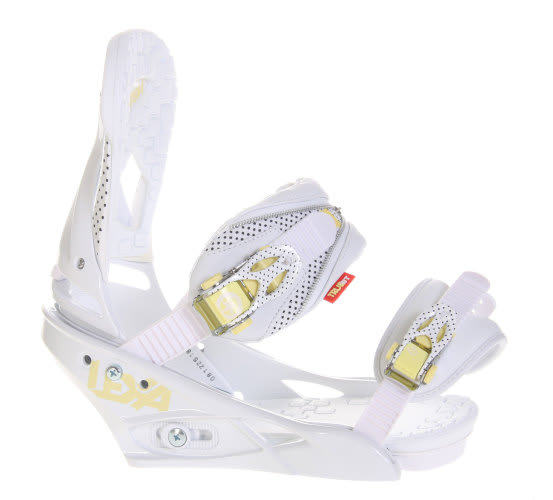 Burton Lexa Snowboard Bindings White A Dot