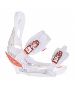 Burton Lexa EST Snowboard Bindings Wht Coral