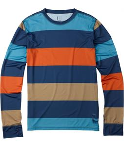 Burton Lightweight Crew Baselayer Top Team Blue Pop Stripe