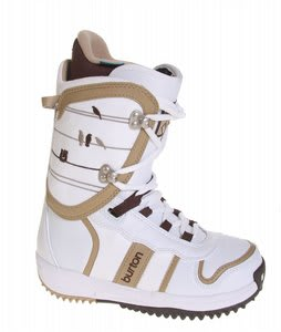 Burton Lodi Snowboard Boots White/Tan