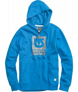 Burton Logo Fill Fullzip Hoodie Heather Bombay