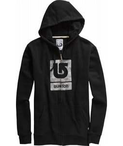 Burton Logo Fill Fullzip Hoodie True Black