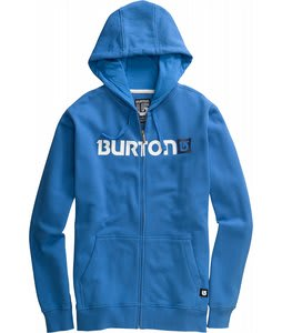 Burton Logo Horizontal Fullzip Hoodie Swedish Blue