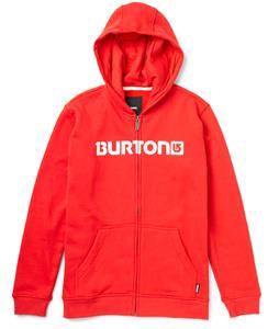 Burton Logo Horizontal Full-Zip Hoodie Cardinal