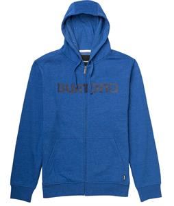 Burton Logo Horizontal Full-Zip Hoodie Heather Cyanide